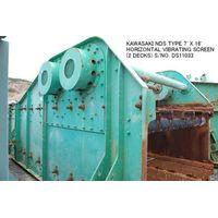USED KAWASAKI NDS TYPE 7' X 16' HORIZONTAL VIBRATING SCREEN (2 DECKS) S/NO. DS11033 WITH MOTOR. thumbnail image
