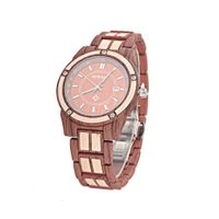 Custom logo hand crafted wood and metal japan movt 3 atm water resistant bewell wooden watch thumbnail image