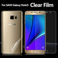 Full Body Skin Front and Back Clear Screen Protector For Samsung Galaxy Note5 Ultra Invisible