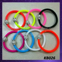 Colorful silicon bracelets with magnet shamballa clasp thumbnail image