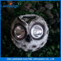 Rock shaped wholesale solar lamp series garden light type mini panel resin+glass solar light kit thumbnail image