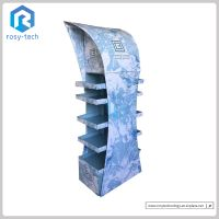 Easy Assembly Foldable Corrugated Paper Floor Display Stand Stationery Display Rack thumbnail image