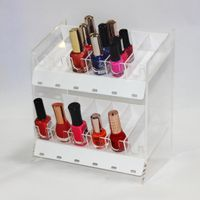 Acrylic Essie Nail Polish Display Rack Case Clear Acrylic Nail Polish Display Case