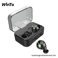 DE01 IPX7 waterproof wireless earbuds with breathing lights, 2600mAh charging case with USB output, thumbnail image