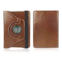 Brown 360 Dgree Rotating 3D Diamond Luxury Leather Case Cover w/ Stand for iPad Mini