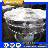 Baisheng 304 stainless steel 1000mm mini rotarty vibrating screen separator machine for sugar sieve