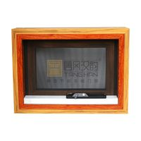 American Style Casement Window with Foldable Crank Handle, Round Top Window