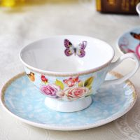 Beautiful Fine Bone China Cup and Saucer Set Coffee Set Tea Set Wholesale