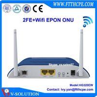 route mode 2 FE LAN ports EPON wifi ONU with 2 antenna