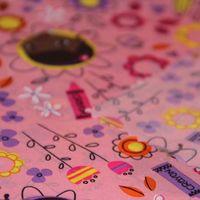 Pink printed down-proof polyester taffeta fabric thumbnail image