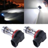 2PCS H11 H8 100W Bright White 6000K LED Fog DRL Daytime Driving Light bulbs