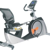 GS-8728RP New Design Programmable Magnetic Recumbent Gym Exercises Bike for Commercial Use thumbnail image