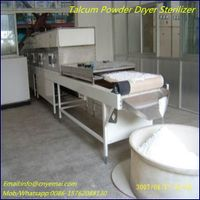 Tunnel microwave talcum powder dryer sterilizer