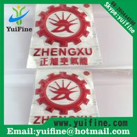Customize 3D Soft PVC Label/Logo Soft Flexible Plastic Silver/Gold Sticker PVC Tag With Adhesive
