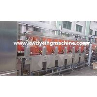 Elastic tapes continuous dyeing & finishing machine