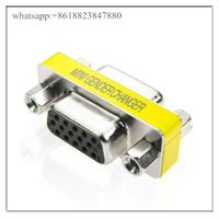 15 Pin HD15 SVGA VGA Female to Female F/F Gender Changer Adapter Connector Cable thumbnail image
