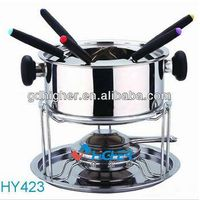 High Quality Stainless Steel Fondue Set/ Cheese Fondue Set