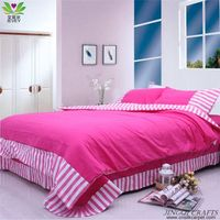 """Breathable cloth"" Hand woven 100% cotton bedding sets 4pcs zz4007"
