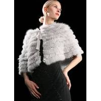 Fox fur with real silk shawl thumbnail image