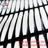Plastic PP HDPE Uniaxial Geogrid