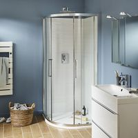 Quadrant Corner shower enclosure with Corner entry double sliding door