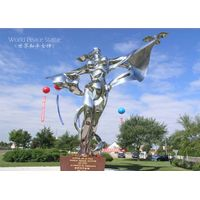 Polished Abstract Stainless Steel Large Metal Garden Sculpture thumbnail image