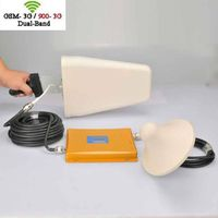 GSM 3G WCDMA 900Mhz 2100Mhz Mobile Cellphone Dual Band Signal Booster Amplifer Signal Repeater thumbnail image