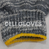 cotton knitted gloves for work