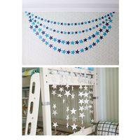 4m Sewn Pentagon-Star Card String Pull Flag Hang Decoration Decoration Christmas New Year
