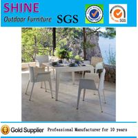 2015 New Bistro Rattan Dining Table and Chair Set SFM3150715-05 thumbnail image