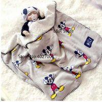 Disney Cartoon Mickey Mouse Four Seasons Thicken Super Soft Fleece kids Cloud Blanket Children Boy G thumbnail image