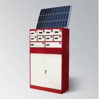 Fast Charging Solar Powered Mobile Phone/Tablet Charging Station Lockers