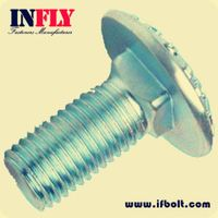 Carriage Bolt DIN603 M6-M20 Mushroom Mead Square Neck Bolt,Infly Fasteners Manufacturers