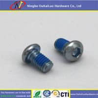 High quality Hexagon Socket Button Head Machine Screws WIth Clear Zinc