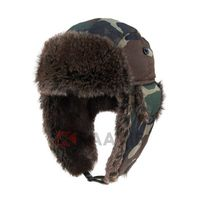 Pilot Bomber Faux Fur Winter Ski Warm Camo Tooper Trapper Ear Flap Hat thumbnail image