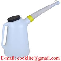 5 Litres Oil Measuring Jug Brake Fluid Fuel Water Container With Spout