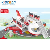 Multifunctional storage 2ch plastic kids electric toy rc plane with light music thumbnail image