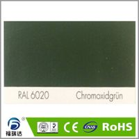 RAL6020 chrome green high glossy hybird powder coating