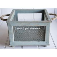 shabby wooden basket for baby photo props thumbnail image