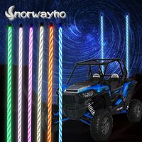 RGB quick released Twistable LED whip Light with RF Remote control for Sand Dune Buggy Quad Truck Of