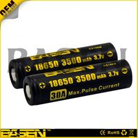 Basen 18650 battery 18650 3500Ah 30A basen battery for box mod vapor li-ion 18650 3100/3500/2800/260