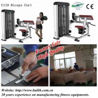 Bailih C119 Biceps Curl Machine Commercial Gym Equipment Hot Sale