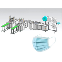 Auto folded mask nose wire and ear loop welding mask machine +14704086638