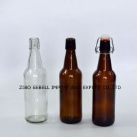 500ml amber glass beer bottle with crown top