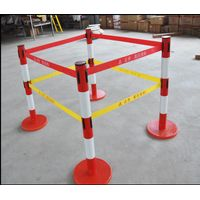fiberglass insulation warning post with warnbing belt