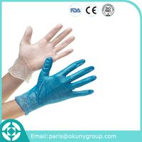 Medical examination disposable vinyl glove with CE & FDA