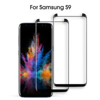 S8, S9 Plus 3D full cover case-friendly tempered glass screen protector