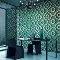 Velvet Blue JY-P-V02 Bisazza Mosaic Silver and Blue Pattern Glass Mosaic Bedroom Wall Tile thumbnail image