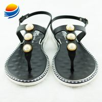 Fashion T Strap Flat PVC Women Sandals