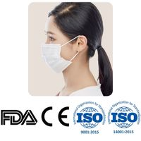 New 3-Ply Disposable Medical Surgical Adjustable Nose Wire White Face Mask 3-Layers Filter Korea
